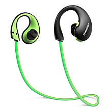 Bluetooth Headphones with Mic LED lights IP66 Water-resistance - Green + Black