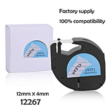 12*4MM Label Tape Great Stability Label Tag Tape Suitable For Dymo LetraTag
