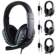 Enjoy 3.5mm Wired Gaming Headset Deep Bass Game Earphone Professional Computer Gamer Headphone With HD Microphone for Computer