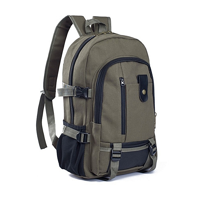 280f2f4bff992b Men Outdoor Trendy Canvas Travel Backpack Casual Rucksack Fits 14