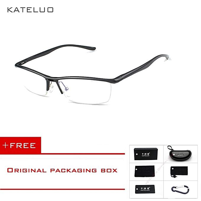 259dfb18ef6 Aluminum Magnesium Anti Blue Laser Fatigue Radiation-resistant Men s Optical  Eyeglasses Glasses Frame Oculos de