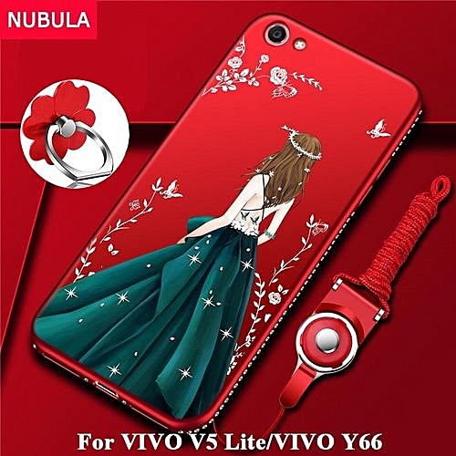 save off 7ef6e da91e Back Cover For VIVO V5 Lite / for Vivo Y66 Pretty Diamond Ultra-thin TPU  Protection Phone Case Shockproof Case With Phone Rope And Metal Ring 292997  ...