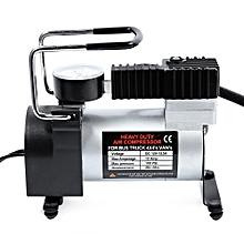 12V Car Tire Inflator Pump Single-cylinder Air Compressor - Silver