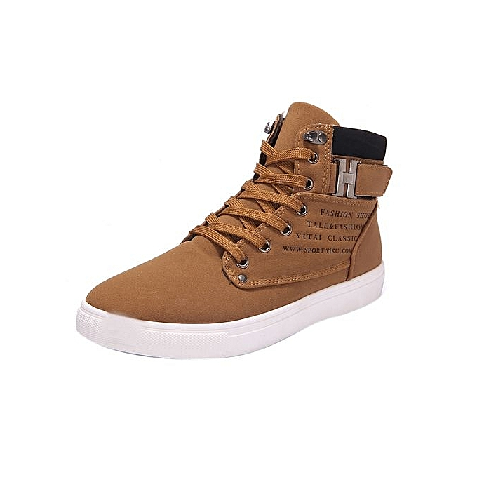 c2c2bb4d9de4e Fashion Mens Oxfords Casual High Top Shoes Shoes Sneakers Shoes  KH 39-Kahki CN SIZE