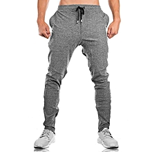 Men's Sports Leisure Trousers Elastic Waist Drawstring Running Training Fitness Pants
