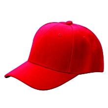 RED Men's Women's  Adjustable Baseball Unisex cap