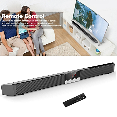 SR100 Plus Bluetooth Soundbar Home TV Speaker Wireless Subwoofer Remote  Control Stereo Surround Sound 4*15W Speakers for Home Theater AUX IN  Coaxial