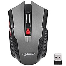 HXSJ X20 2400DPI 2.4GHz Wireless Optical Game Mouse with USB Receiver GRAY