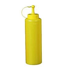 Plastic Squeeze Bottle Ketchup Mustard Sauce Vinegar Dispenser Yellow