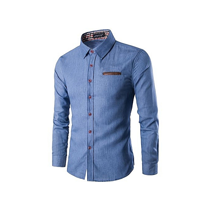 b1f3957faac Men s Hot Sale  Spring And Autumn Style Men Cotton Denim Shirts Casual Long  Sleeve Men s