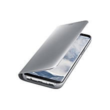 Galaxy Note 8 Clear View Stand Cover - Silver