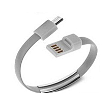 Mobile Phone Charging Cable 360 Degree Data Line Micro USB Cable - Android Gray