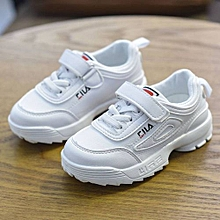 FILA Kid's Shoes Girls Sneakers Kinder Sport Light Shoes Kids White Pink Black