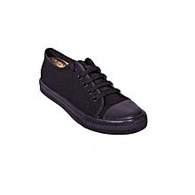 best service 47c08 7dc5d Black Canvas Shoes With Rubber Sole