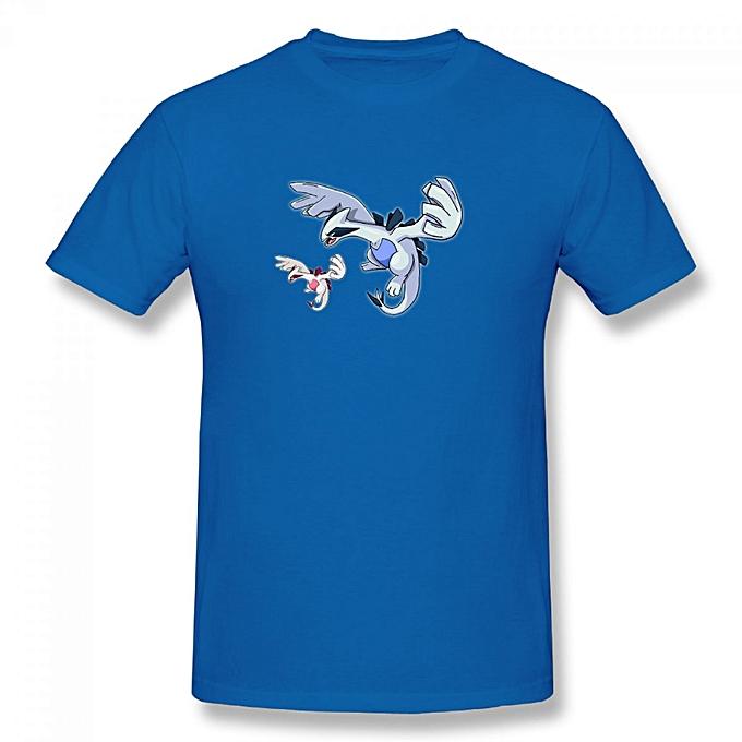 d776a902 Generic Lugia Art Men's Cotton Short Sleeve Print T-shirt Blue ...