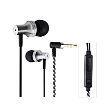 SUR S1025 3.5MM Plug In-ear Dynamic Stereo Earphones With Microphone - Gray