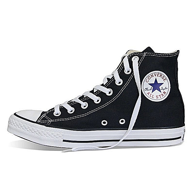 638cbefa9f Fashion Converse All Star Shoes Men Women's Sneakers Canvas Shoes All Black  High Classic Skateboarding Shoes Large Size35-46