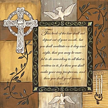 Canvas Print Vintage Wall Picture 40X40cm Rolled -  Caramel Scripture Painting