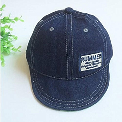 8640f7bdfe237 Eissely Baby Toddler Summer Letter Embroidery Tide Denim Visors Cap  Baseball Sun Hat NY