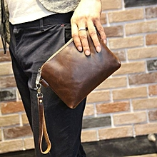 085fcce394e8 Design Korean Men Clutch Package Europe Wallet Shoulder Messenger Bag Small  Men Hand Bag Leather Zipper