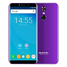 C8 3G Phablet 5.5 inch 2.5D Arc Screen Android 7.0 MTK6580A 1.3GHz Quad Core 2GB RAM 16GB ROM Fingerprint Scanner 8.0MP Rear Camera - PURPLE
