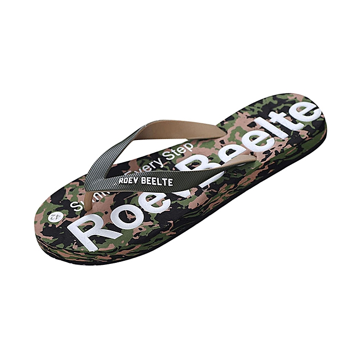 8e36fd49cce1e2 birthpar store Men Summer Camouflage Shoes Sandals Male Slipper Indoor Or  Outdoor Flip Flops -Green ...
