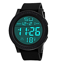 Watches Digital Watches Mens Unique Led Digital Watch Blue White Led Watches Black Soft Rubber Digital Wrist Watch For Men As Gift Factory Direct Selling Price