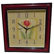 Square Wall clock - 33 cms L X W, Marun 9051
