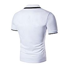 New Hot Men's Slim Sports Short Sleeve Casual Polo Shirt T-shirts Tee Tops-white