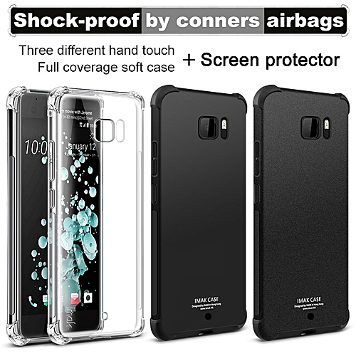 new styles 1028d a19b9 Shock-proof Conner Airbag Protection TPU Back Cover for HTC U Ultra / Ocean  Note Case Matte Cover for HTC U Ultra