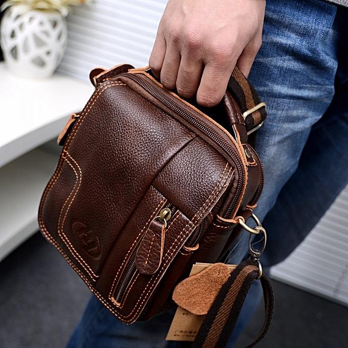 4c90b1c24 men's Leather Vintage Shoulder Messenger Bag male Casual multifunction  Small Crossbody Flap hangbag man Messenger Bags
