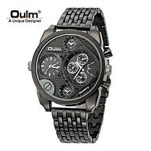 Watches, 9316 Luxury Brand Men Full Steel Watch Big Size Male Casual Watches - Black