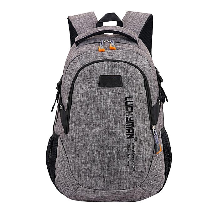 eb2d0006b693 jiuhap store Backpack canvas Travel bag Backpacks Unisex laptop bags  Designer student bag-Grey