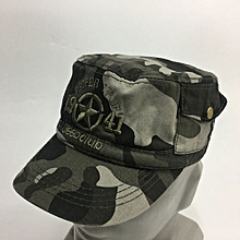 Hot Sale Military Fanatic Flat-topped Cotton Duck Tongue Casual Outdoor Sun Cap-01