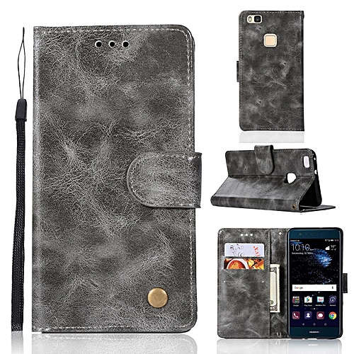 new concept f9455 d23da Casing For Huawei P9 Lite / G9 Lite,Reto Leather Wallet Case Magnetic  Double Card Holder Flip Cover