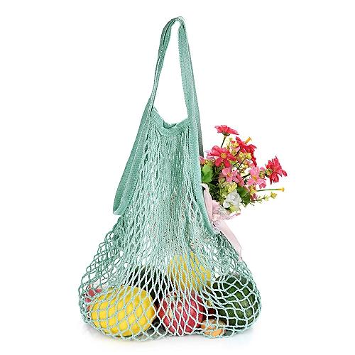 Reusable Fruit Shopping String Bag High-capacity Net Travel Bag Handbag Organizer Outdoor Bags Kids Beach Toy Travel Bag Luggage & Bags