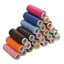 24pcs Multi Color Cotton Sewing Machine Thread Spools Reel Cord String