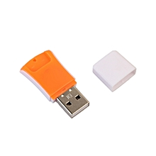 jiuhap store High Speed Mini USB 2.0 Micro SD TF T-Flash Memory Card Reader Adapter-yellow