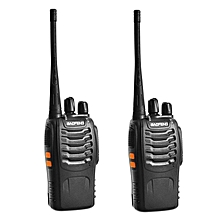 1 Pair BaoFeng BF-888S 16 Channel Walkie Talkie Set UHF 5W WWD