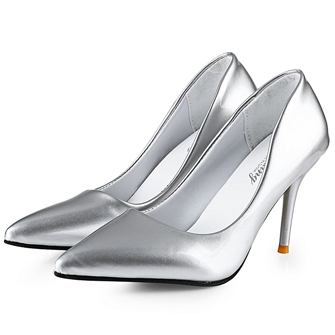 b90f8dcf99b Stylish Pointed Toe Ladies Thin High Heel Shoes-SILVER - SILVER - 4