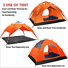 3 Use Tents for Camping/ 3-4 Person Camping Tent/Backpacking Tents/Safari Tents ( Orange)