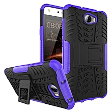 "[Y6 II Compact] Case, Hard PC+Soft TPU Shockproof Tough Dual Layer Cover Shell For 5.0"" Huawei [Y5 II][Honor 5][Play 5], Purple"