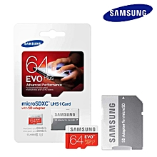 Samsung EVO Plus 64GB 80MB Class 10 Micro SD Memory Card with Adapter  MQSHOP