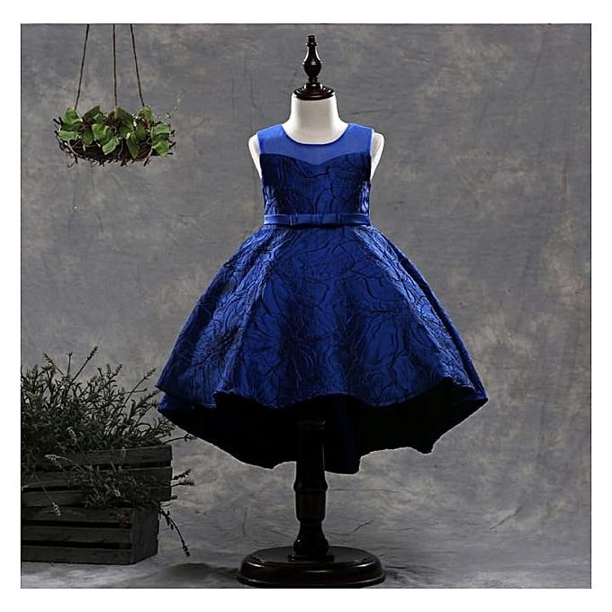 Girl Dress Kids Party Wedding Dresses Size 110 Blue