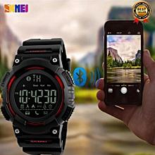 Skmei 2017 New Popular SKMEI 1256 Men Smart Watch Pedometer Calories Chronograph Fashion Outdoor Sports Watches 50M Waterproof Digital Wristwatches