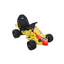 Yellow Racer Battery-Powered Go-Kart