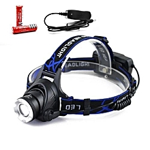 Torch Lamp Headlight Light Weight With 2x 18650 Battery XM-L T6 Hiking Sporting Goods Headlamp Strong Light Fishing