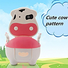 Portable Potty Training Baby Toilet Seat Toddler Cartoon Cow Chair Kids Trainer