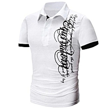 5f626a2e0a6 bluerdream-Men  039 s Fashion Short Sleeve Blouse Men Casual Letters Print T