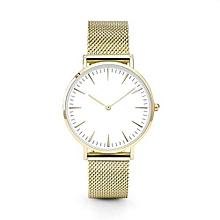 bluerdream-Luxury Women Men Stainless Steel Watch Analog Quartz Bracelet Wrist Watches New-Gold